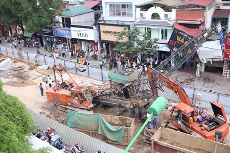 All work stopped at Hanoi metro project