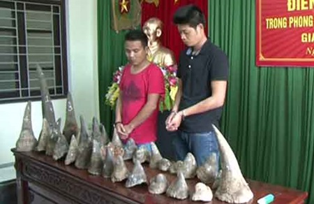 Police prosecute two rhino horn smugglers