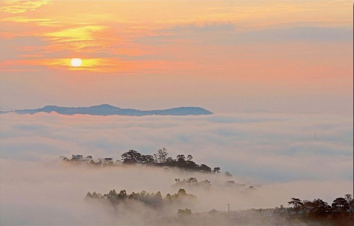 Photos: Da Lat in early morning mist