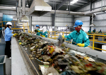 Waste treatment by the technology of Japan