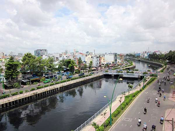 HCM City, collect, household wastewater, waterway transport