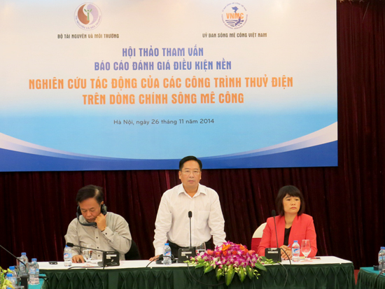 Consulting the research on the impact of hydropower projects on the Mekong mainstream