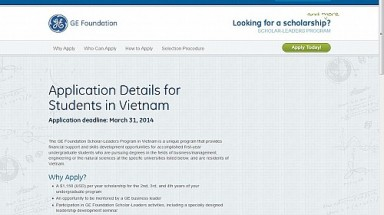 GE offers $34,500 in scholarships to Vietnamese students