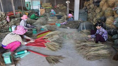 Reed brooms go abroad