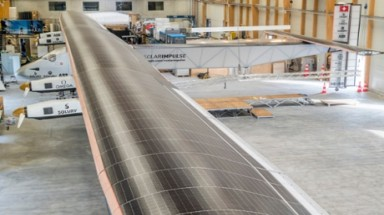 Solar plane bids to fly around the world without fuel