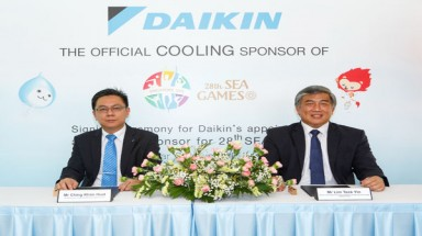Daikin Gives S$1 million to Cool the 28th SEA Games