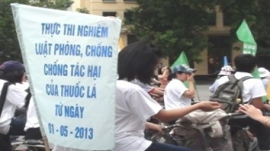 No Tobacco Day marked in Hanoi