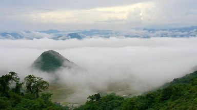 The cloud valley in Hoa Binh