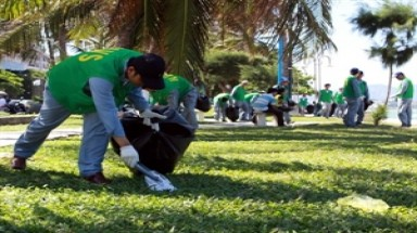 Students plant trees to mark Green Hour