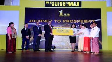 Western Union is one of the first global money transfer companies to provide service in Myanmar