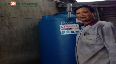 Save the Children and HSBC provide rainwater harvesting systems for poor families in Dong Thap