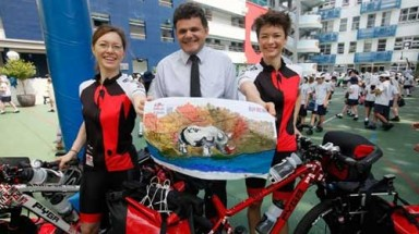 Cyclists embark on Vietnam trip to save rhinos