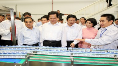 Milk plant opens in Nghe An