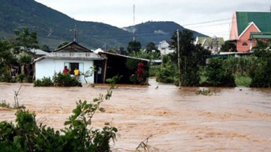 Torrential rains submerge Central Highland province
