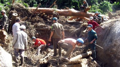 Landslides, flash floods batter central provinces