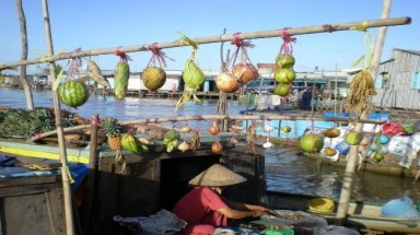 Going to Cai Rang floating market in the flood season