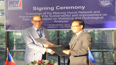France provides 1 million euro to support the expansion of a Mekong hydro-meteorological network and data application